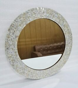 Mirror Wall Hanging Bedroom Mother of Pearl Design Frame Decorative Wall Hanging
