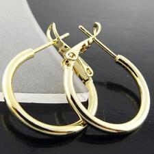 Mixed Metals Hoop Yellow Gold Filled Fashion Earrings