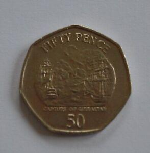 2005 Gibraltar Capture of Gibraltar 50p Fifty Pence Coin