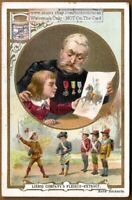 Grandfather  With His Grandson CHARMING c1898  Trade Ad Card