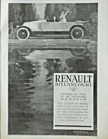 PUBLICITÉ DE PRESSE 1920 RENAULT BILLANCOURT VOITURES DE VILLE ET DE TOURISME