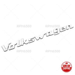 Universal Chrome Rear Liftgate Badge Sport Volkswagen Letter Logo Emblem For VW