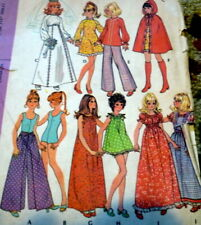 "*GREAT VTG 11 1/2"" BARBIE DOLL CLOTHING SEWING PATTERN"