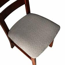 Seat Covers for Dining Room Chair Seat Slipcovers Kitchen Chair 4 Pcs Grey