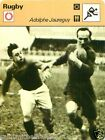 FICHE CARD : Adolphe Jauréguy FRANCE RUGBY 70s