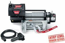 WARN 86255 VR10000 10000lb Winch 12V Roller Fairlead 94' 3/8 Wire Rope Cable