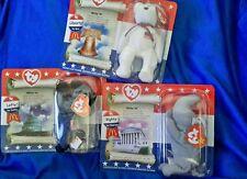 NIP Set 3 McDonalds TY Teenie Beanie Babies American Trio Righty 4584e99ea21d