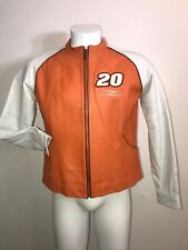 Authentic Chase Nascar #20 Tony Stewart Racing womans L Wilsons Leather Jacket