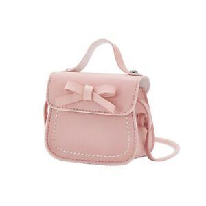 Kids Baby Girls PU Leather Bowknot Messenger Bag Crossbody Purse Handbag