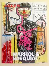 JEAN MICHEL BASQUIAT & ANDY WARHOL RARE LIMITED EDITION LITHOGRAPH PRINT POSTER