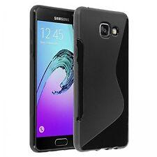 Pour Samsung Galaxy A3 ( version 2016 ) SM-A310F  Coque Gel Silicone S-Line noir