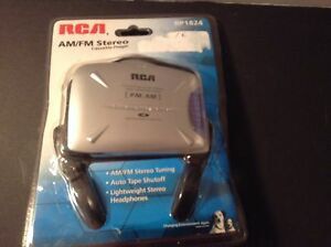 RCA Repackaged AM FM Cassette Radio with Headphones RP1824