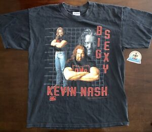 """""""Big Sexy"""" Kevin Nash 1998 WCW nWo Officially Licensed T-Shirt Large"""