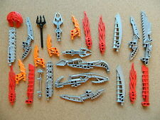 LEGO Bionicle Weapons - large lot of 25 - Staff Blade Shield Claw