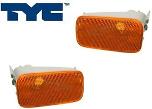 For Mercedes W210 E300 E320 Pair Set Of 2 Front Bumper Turn Signal Lights Lamps