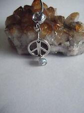 Spiritual Inspirational Labradorite Gemstone Bead Peace Body Piercing Naval Bar