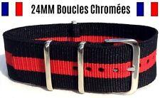 ★ NATO ★ 24MM ★ Bracelet montre Watch Band Strap Nylon Military Army Bond 007