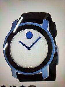 Movado 3600168  Bold white dial  blue-grey aluminum Quartz Watch unisex