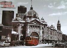Australian Souvenir Metal Fridge Magnet Melbourne Australia Railway Station Tram
