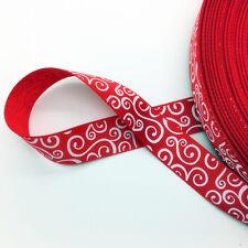 "New 5 Yards 3/4"" (20mm) Printed Grosgrain Ribbon Hair Bow DIY Sewing AD08"