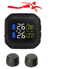 Sykik Rider Motorcycle TPMS W/Display,Wireless Tire Pressure Monitoring System