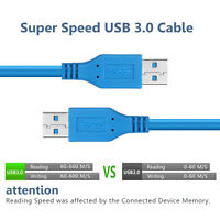 Super Speed 5Gbps Type A Male to  A Male Extension 6Ft USB 3.0 Cable Cord