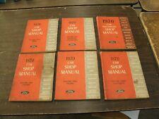 Original OEM 1970 Ford Lincoln Mercury Car Shop Manual Set Books Mustang Torino