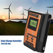 30A MPPT Solar Charge Controller Panel Battery Regulator 12/24V Dual USB