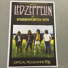LED ZEPPELIN - CONCERT POSTER - KNEBWORTH U.K. 1979     (A3 SIZE)