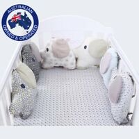 6 Pcs Elephant Shape Baby Around Cot Bed Bumper Cushion Protection Safety Pillow