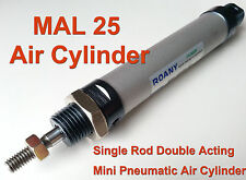 Magnetic Mal25 Series Single Rod Double Acting Mini Pneumatic Air Cylinder Mal # Mal25x75mm