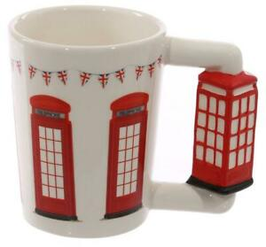 Great Britain London Phone Booth Telephone Coffee Cup, Souvenir Coffee Mug, New