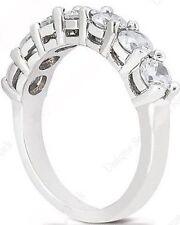 7 Round Diamond Wedding Ring Anniversary Band 1.74 carat, F VS/SI1, 0.25 ct each