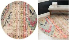 Santa Fe Collection Distressed 3 ft. x 3 ft. Round Area Rug by Unique Loom - NEW