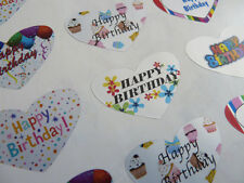 Happy Birthday Heart Greeting Stickers, Labels for Cards, HBHS-3524/1