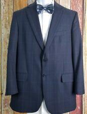 Tom James Men's Wool Blue Check Sport Coat Jacket 40 Regular