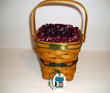 Longaberger 1997 Bee Basket, Heritage Green Liner, Tie-On & Protectorr