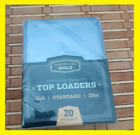 * 800 (32x25) 3x4 CARDBOARD GOLD TRADING CARD TOPLOADERS * 20pt Hard Top Loaders