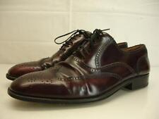 Florsheim Mens 13 M Royal Imperial Wingtip Shoes Oxfords Burgundy Cordovan Dress