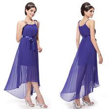 Chiffon Patternless Tea Dresses