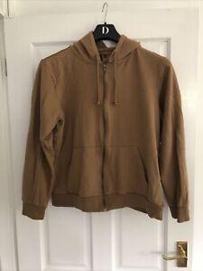 Mens Brave Soul Light Brown Hooded Jacket Hoodie, Size Large