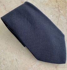 Authentic Giorgio Armani Designer Men's Black Necktie - Made in Italy