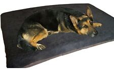 Cosipet® Large Waterproof Foam Pad Black Sherpa Fleece Dog Bed Free Spare Cover