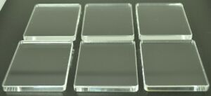 Stamping Blocks Acrylic Clear Plastic Perspex® 5mm Thick 6 pack 45mm x 55mm