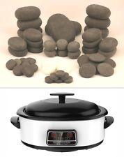 HOT STONE MASSAGE KIT: 50 Basalt & Marble Stones + 6 Litre Digital Heater