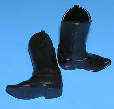 Black BOOTS for 12in Cowboy Lawman Lone Ranger figure Western shoes fit Ken doll