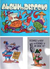 JACOVITTI  lotto!!!! + ALBUM da DISEGNO ( NUOVO!!)+ 2 cartoline anni 70 ORIGINAL