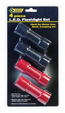 Steel Grip  Black/Red  LED  Flashlight/Headlight Combo Pack  AAA Battery