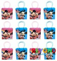 Mickey and Minnie Mouse Birthday Party Favor Goody Gift Candy Loot Bags