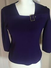 K Studio Beautiful Purple Knit Top - Size M